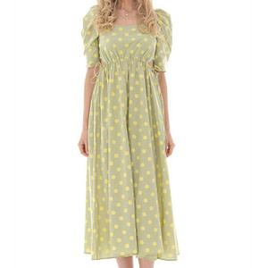 vintage style spot midi dress in cotton aimelia dr4262 9738 1 e1617437687516