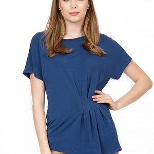Bluza bleumarin cu pliuri scaled