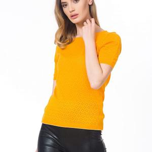 Bluza galbena tricotata scaled