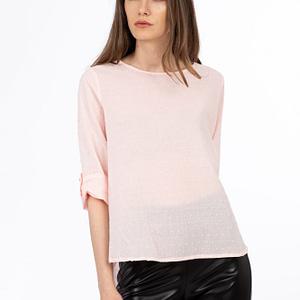Bluza roz pal din bumbac scaled