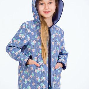 Jacheta pentru fetite windproof scaled