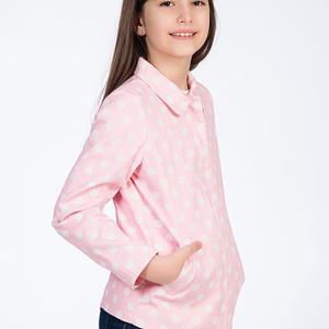 Jacheta roz cu buline pentru fete scaled