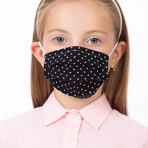 Masca de fata pentru copii imprimeu buline albe scaled
