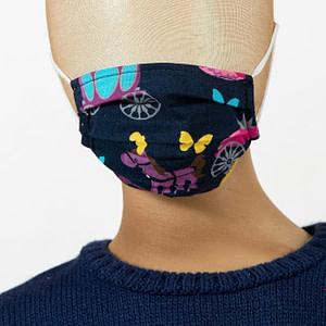 Masca de fata pentru copii imprimeu calut scaled
