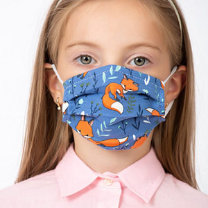 Masca de fata pentru copii imprimeu vulpe scaled