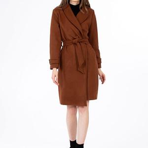 Palton maro cu cordon scaled