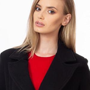 Palton negru negru 2
