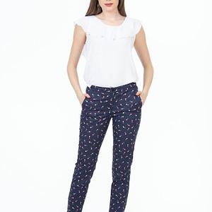 Pantaloni stretch print floral 1