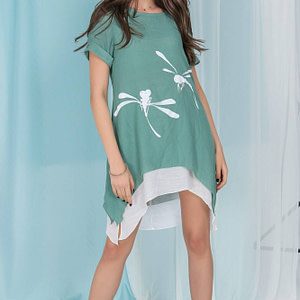 casual layered top aimelia br2480 in mint green with a dragonfly motif 9788 1 scaled