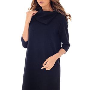 rochie bleumarin roh cu guler inalt dr3672 7907 1 1 scaled