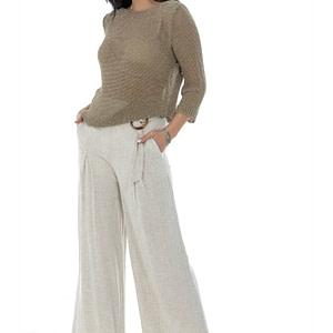 semi sheer fine knit jumper with metalic thread in beige aimelia br2414 9775 1 scaled
