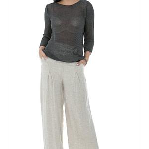 semi sheer fine knit jumper with metalic thread in dk grey aimelia br2413 9774 1 scaled