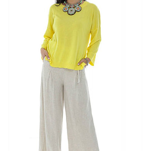 slouchy fit casual top with a shaped hem yellow aimelia br2417 9781 1 scaled