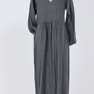linen midi dress aimeliadr4285 in dark grey with pockets 9803 1