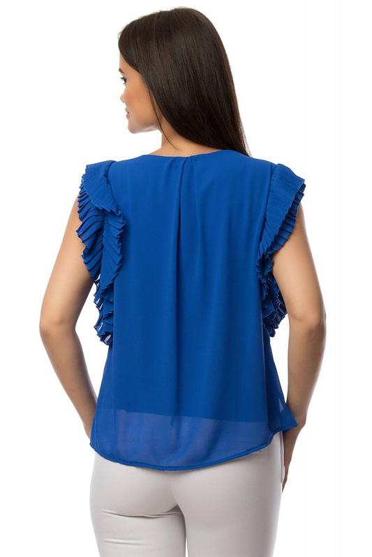 bluza albastra cu volane br1432 5881 2