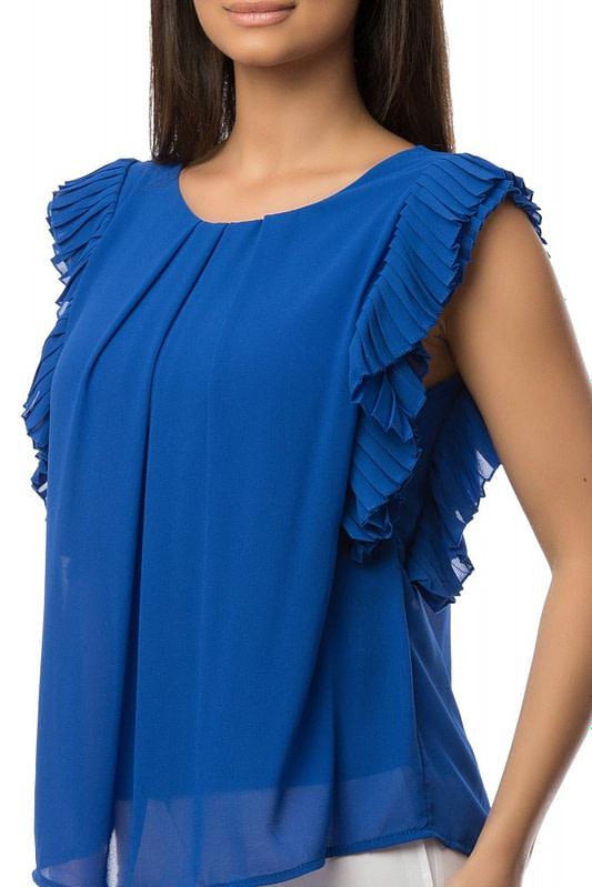 bluza albastra cu volane br1432 5881 3
