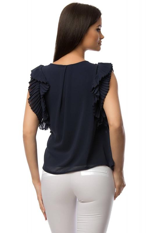 bluza bleumarin cu volane br1430 5879 2