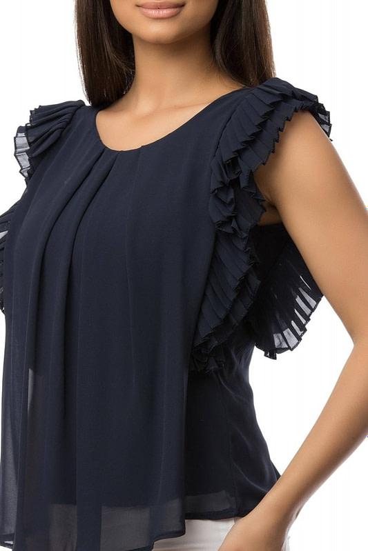 bluza bleumarin cu volane br1430 5879 3