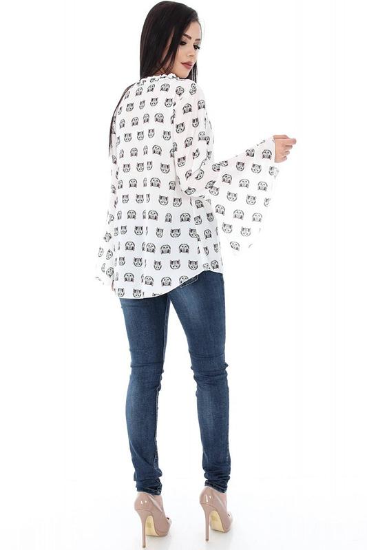 bluza cu imprimeu pisicute clb201 5614 2