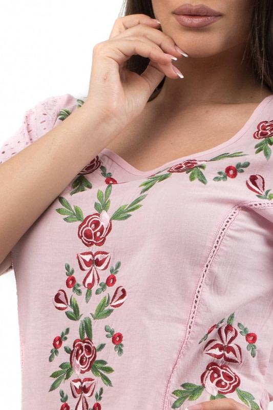 bluza din bumbac cu broderie br553 r 1657 2