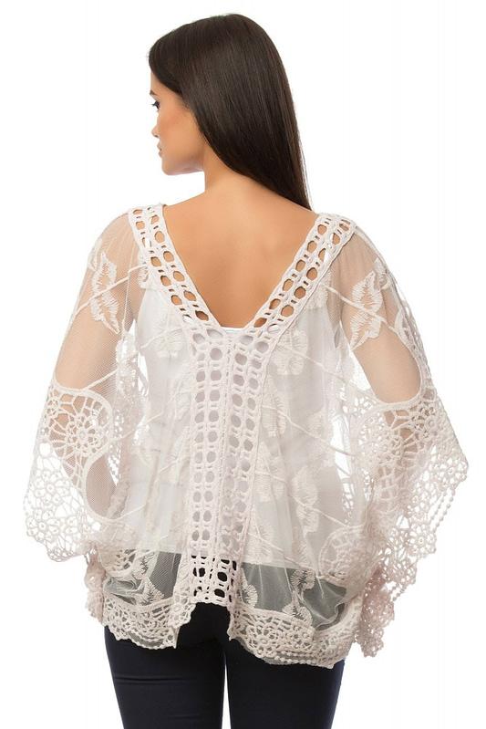 bluza din mesh gen fluture br1439 5915 2