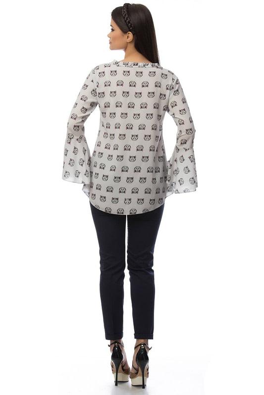 bluza gri cu imprimeu pisicute br1404 5841 2