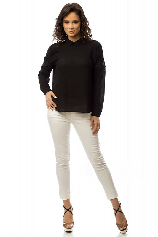 bluza neagra cu dantela br1375 5713 3