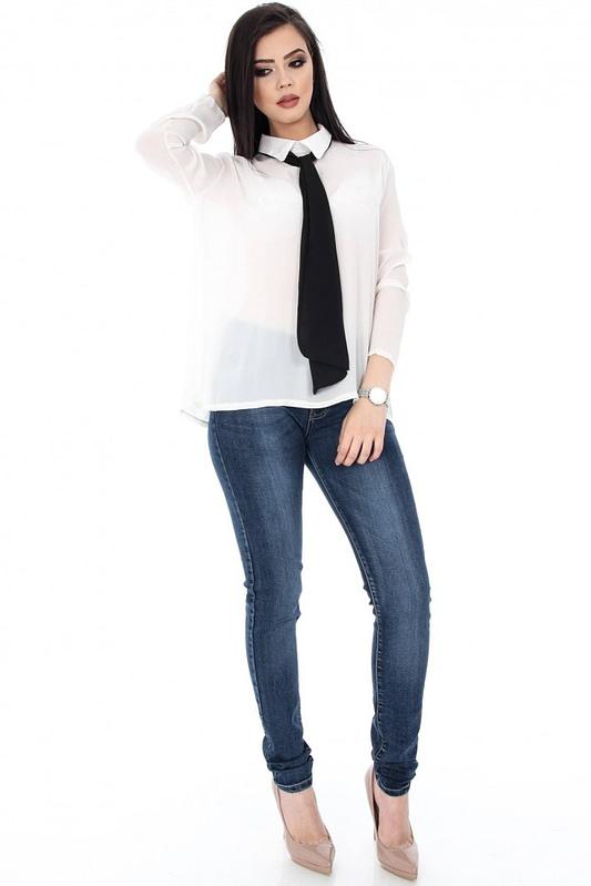 camasa alba accesorizata cu cravata neagra clb221 5661 2