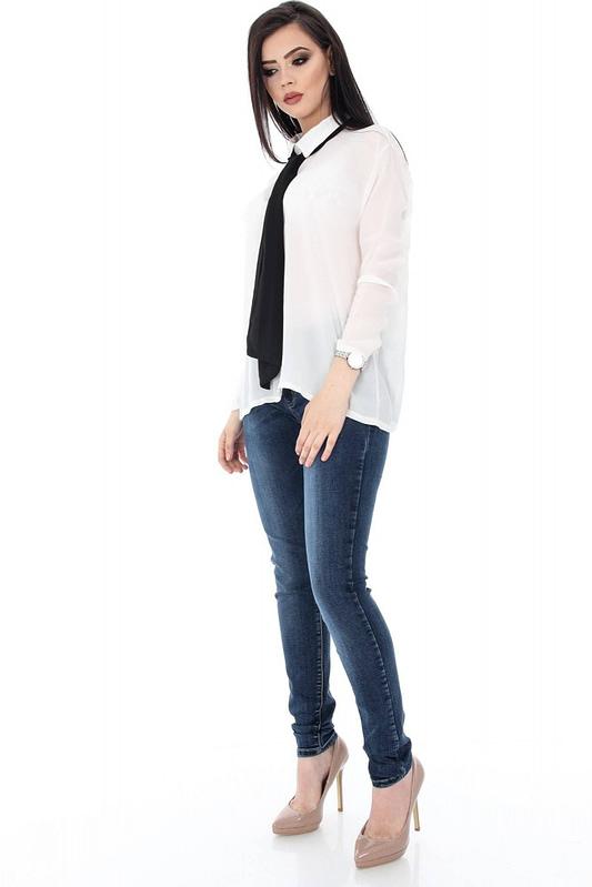 camasa alba accesorizata cu cravata neagra clb221 5661 3