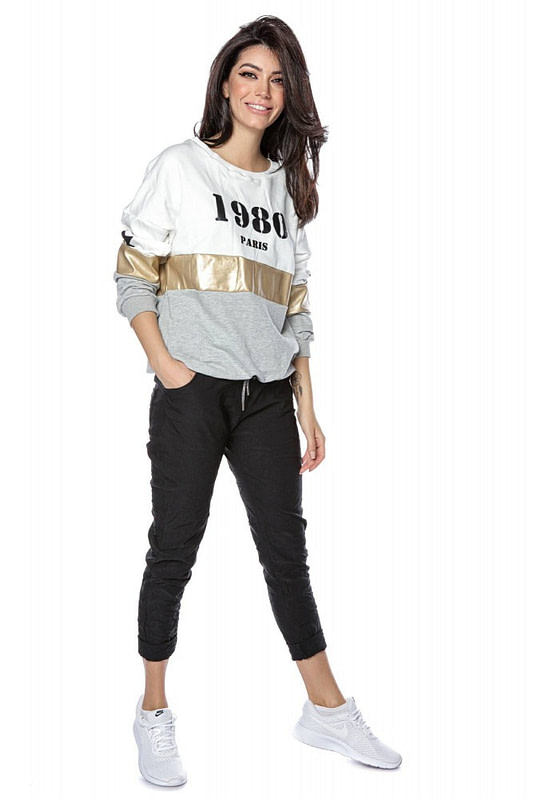 colour block sweatshirt with 1980 logo grey roh br2303 9261 1