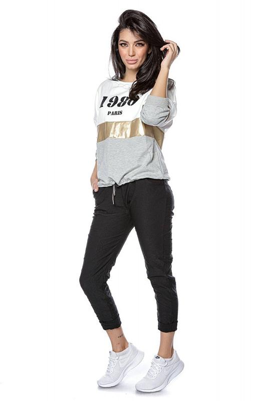 colour block sweatshirt with 1980 logo grey roh br2303 9261 3
