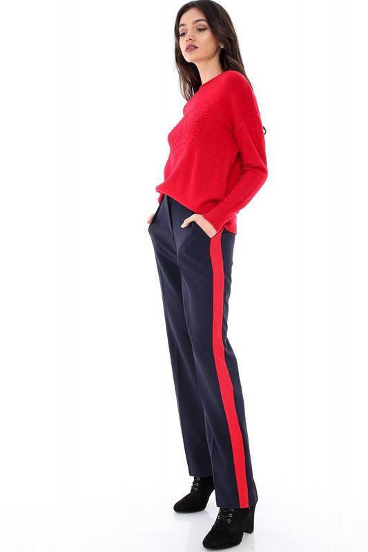 pantaloni bleumarin cu dunga tr180 5895 2
