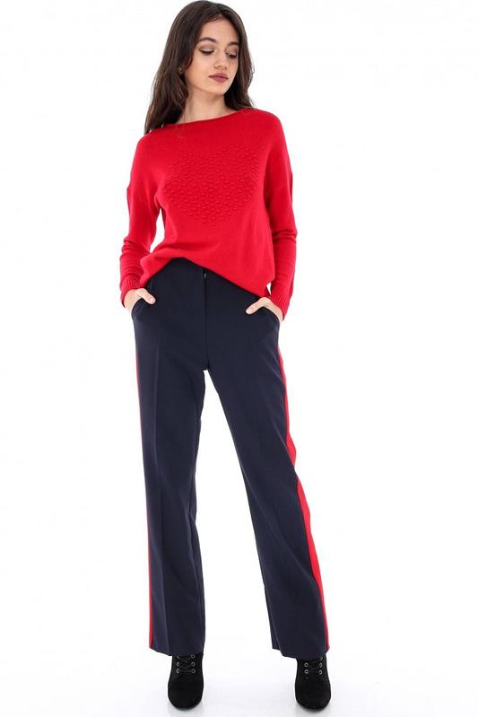 pantaloni bleumarin cu dunga tr180 5895 3