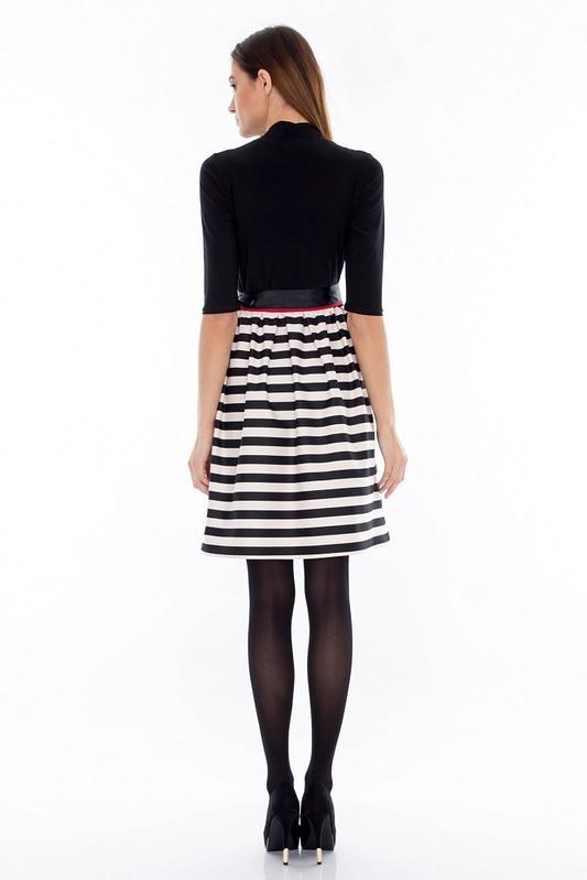 rochie alb negru dr2244 3466 2