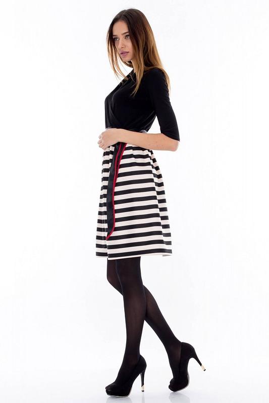 rochie alb negru dr2244 3466 3