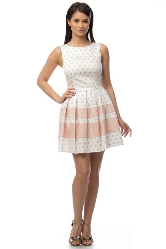 rochie alba cu buline dr2983 5802 1
