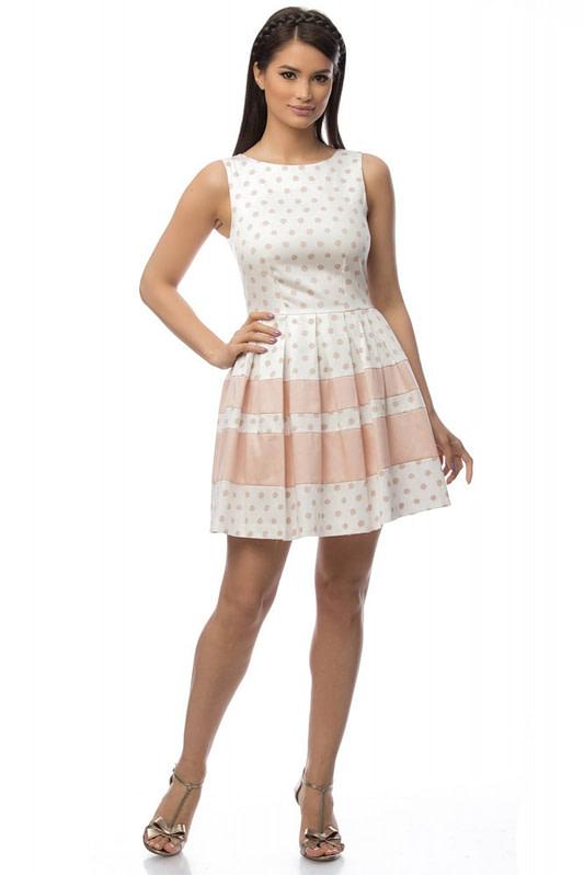 rochie alba cu buline dr2983 5802 2