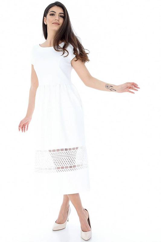 rochie alba cu dantela dr3011 5875 1