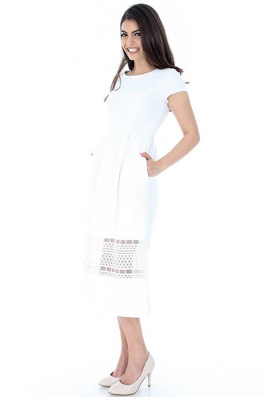 rochie alba cu dantela dr3011 5875 2