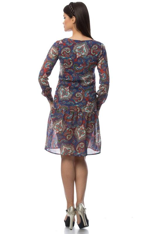 rochie albastra cu imprimeu dr2921 5695 2