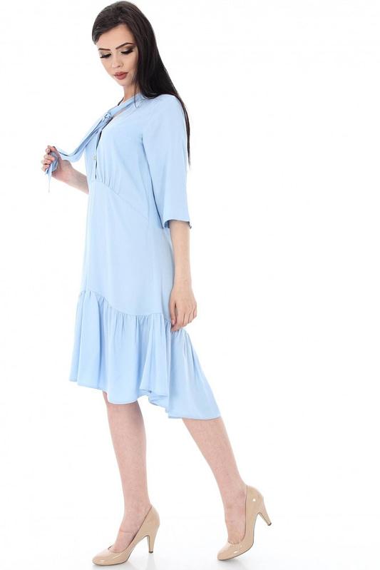 rochie albastra cu maneca trei sferturi dr2881 5563 1