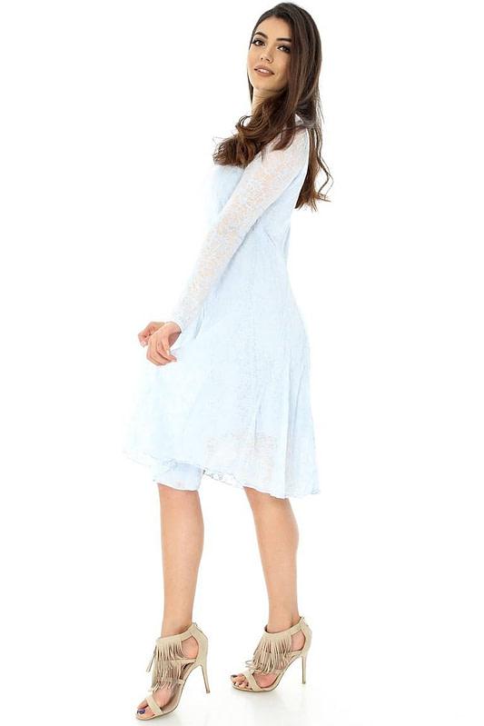 rochie albastra cu maneci lungi dr2975 5847 3