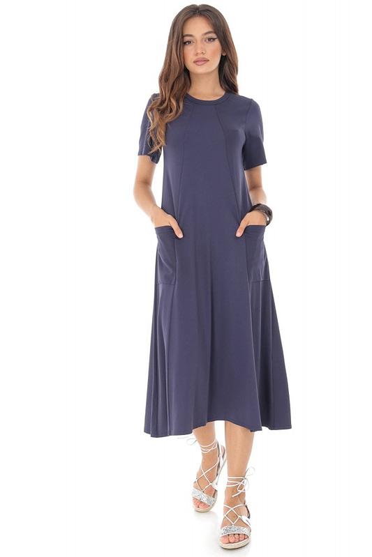 rochie bleumarin din jersey dr2880 5566 2