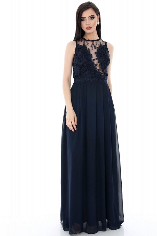 rochie bleumarin eleganta dr2882 5569 1