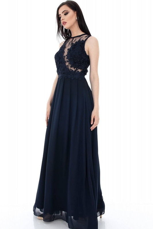 rochie bleumarin eleganta dr2882 5569 3