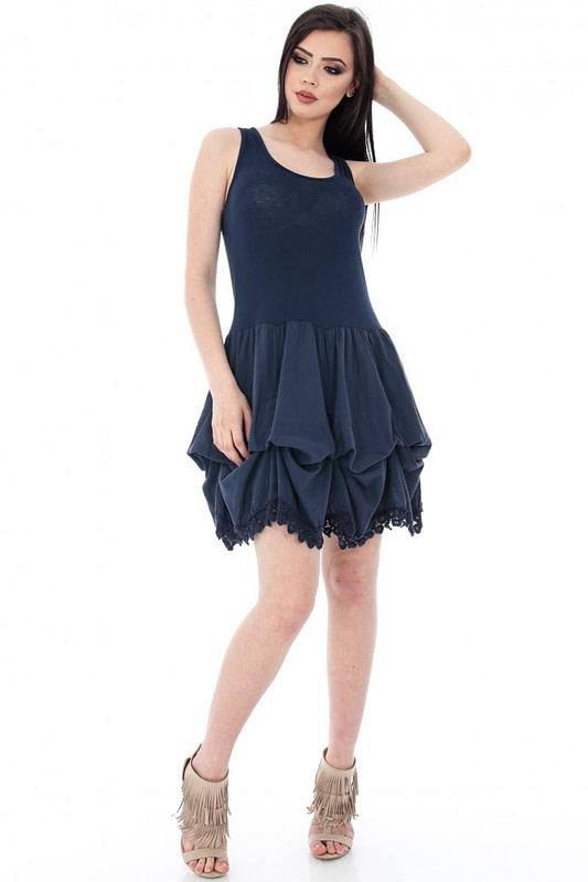 rochie bleumarin fara maneci cld808 5604 1
