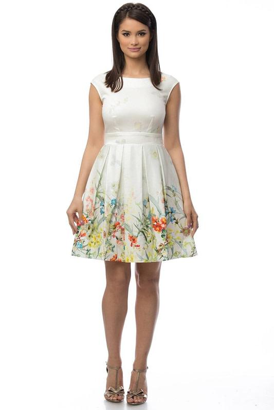 rochie crem cu motive florale dr2918 5699 1