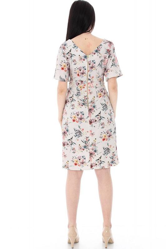 rochie crem imprimata floral dr2876 5568 2