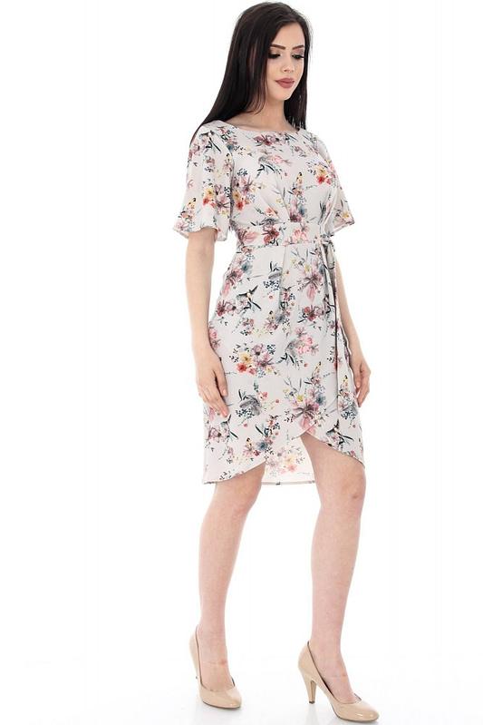 rochie crem imprimata floral dr2876 5568 3