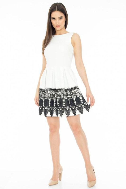rochie cu dantela in contrast dr1888 2761 1